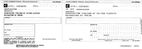 Associazione italiana di cultura classica delegazione di for Bollettino precompilato